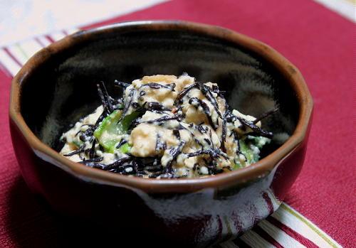 今日のキムチ料理レシピ:小松菜とひじきのピリ辛白和え