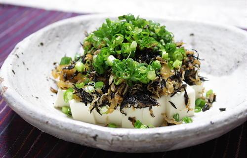 今日のキムチ料理レシピ:ひじきとキムチの豆腐サラダ