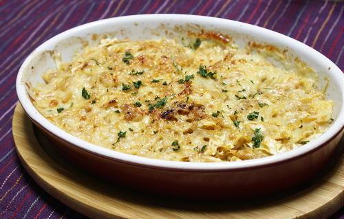 今日のキムチ料理レシピ:ひき肉とキャベツとキムチのチーズ焼き