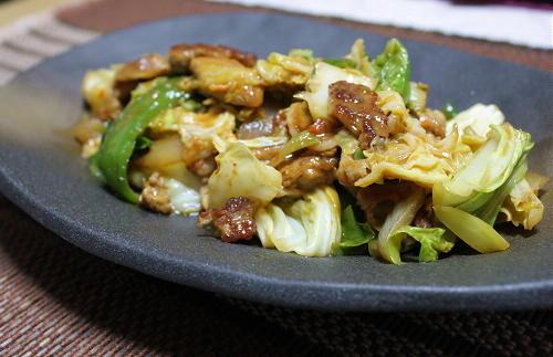 豚肉とキャベツの甘辛味噌炒めレシピ