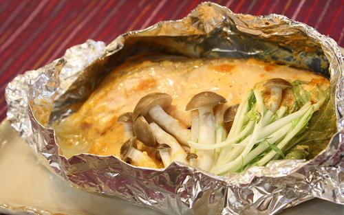 鮭のピリ辛ホイル焼きレシピ