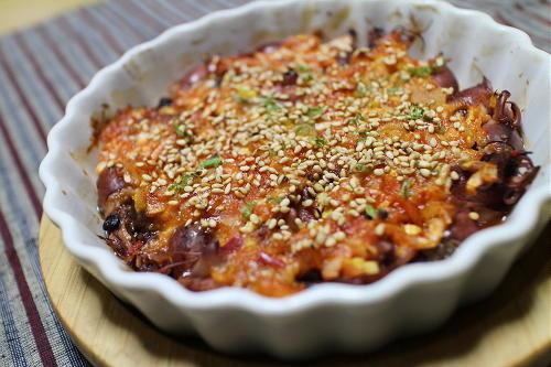今日のキムチ料理レシピ:ホタルイカのピリ辛味噌焼き
