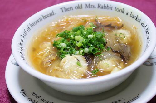 今日のキムチ料理レシピ:帆立とキムチのスープ