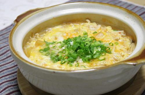 今日のキムチ料理レシピ:ホタテとキムチの雑炊