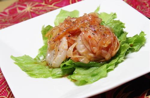 今日のキムチ料理レシピ:ホタテのピリ辛マリネ