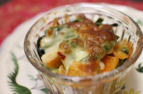ほうれん草と大根キムチのチーズ焼きレシピ