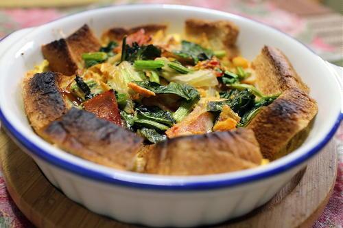 今日のキムチレシピ:キムチパンキッシュ
