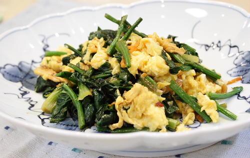今日のキムチ料理レシピ:ほうれん草とキムチのオイスターソース炒め
