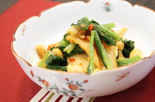 今日のキムチ料理レシピ:ほうれん草のキムチ和え