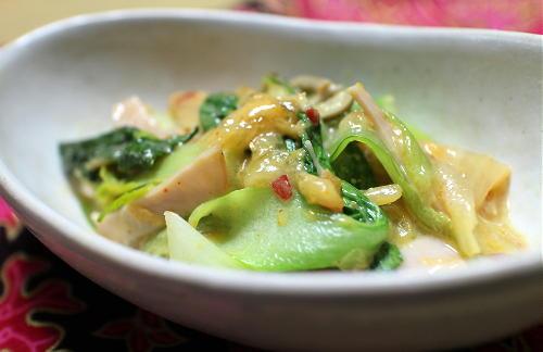 今日のキムチ料理レシピ:青梗菜とキムチのクリーム煮