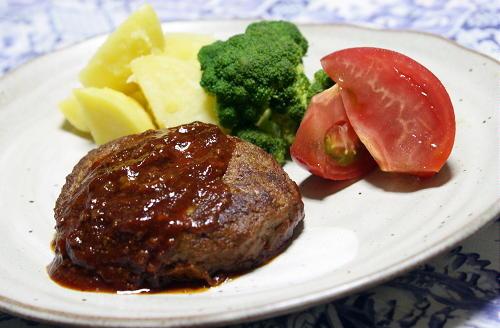 今日のキムチ料理レシピ:キムチハンバーグ