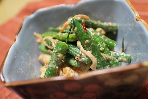 今日のキムチ料理レシピ:いんげんとキムチのごまマヨ和え