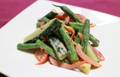 夏野菜のピリ辛みそマヨ和えレシピ
