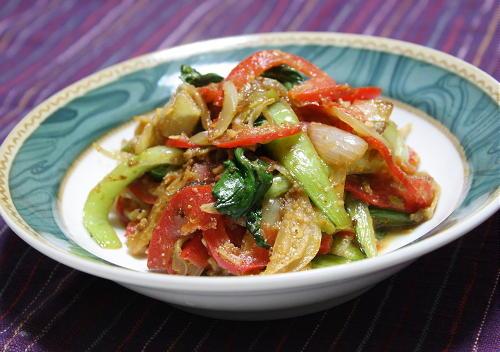 彩り野菜とキムチのごま味噌炒めレシピ
