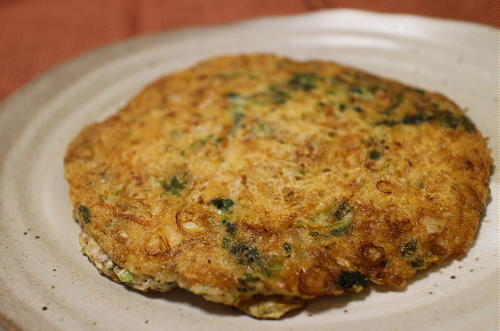 今日のキムチ料理レシピ:自然薯のキムチお焼き