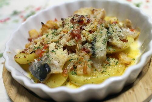 今日のキムチレシピ:ジャガイモとタラとキムチのパン粉焼き