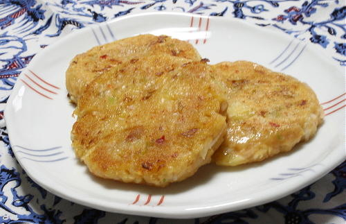 今日のキムチ料理レシピ:ジャガツナキムチチヂミ