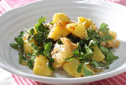 今日のキムチ料理レシピ:じゃがいもとクレソンのキムチサラダ