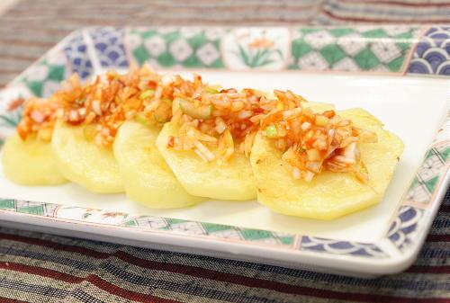 ジャガイモのネギキムチがけレシピ
