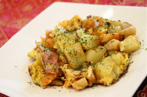 大根キムチとジャガイモのスクランブルエッグレシピ