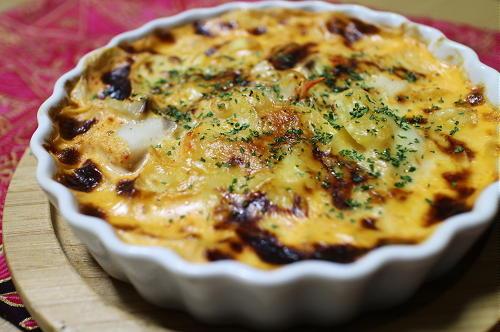 今日のキムチ料理レシピ:タラとキムチのスープグラタン