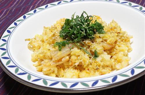 今日のキムチ料理レシピ:じゃこキムチチャーハン