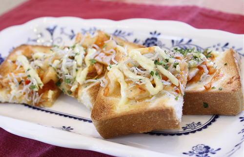 今日のキムチ料理レシピ:じゃこキムチトースト