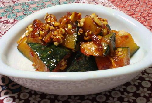 今日のキムチ料理レシピ:かぼちゃのキムチ蜂蜜和え