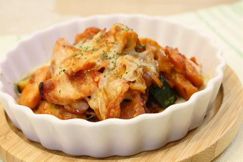 今日のキムチ料理レシピ:かぼちゃとキムチのチーズ炒め