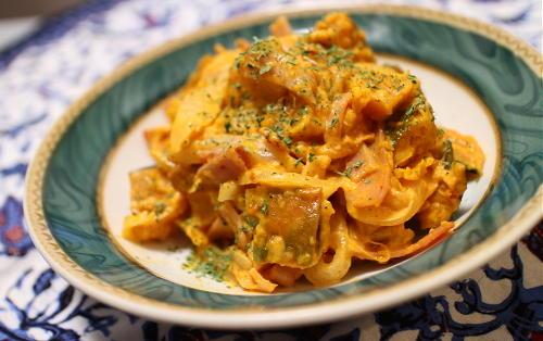 かぼちゃと大根キムチのマヨサラダレシピ
