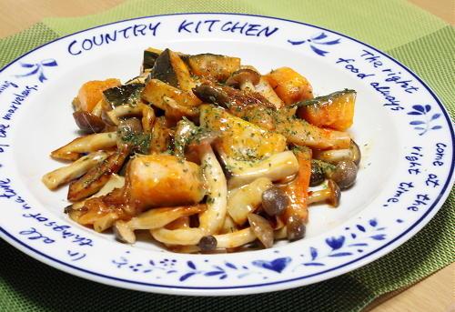 今日のキムチ料理レシピ:かぼちゃと大根キムチのチーズ炒め