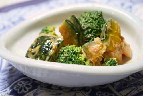 今日のキムチ料理レシピ:南瓜とキムチの味噌マヨサラダ