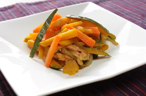 今日のキムチ料理レシピ:かぼちゃと人参のキムチサラダ