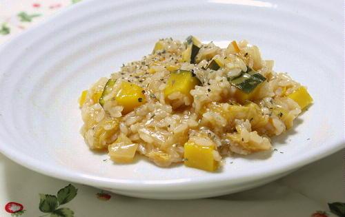 今日のキムチ料理レシピ:南瓜とキムチのリゾット