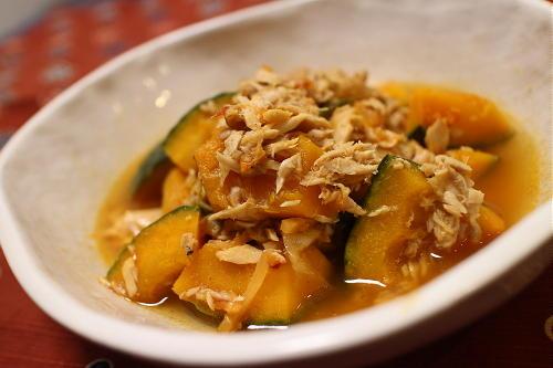 今日のキムチレシピ:かぼちゃのツナキムチ煮