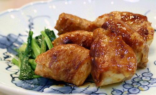 かぶ入りキムチ味噌の豚肉巻き