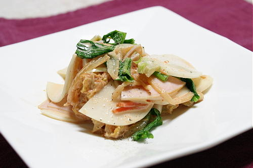 今日のキムチ料理レシピ:かぶとキムチのサラダ