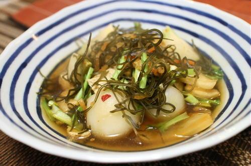 今日のキムチ料理レシピ:カブと白菜キムチのさっと煮