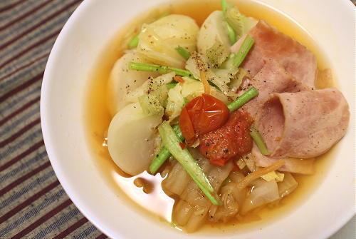 今日のキムチレシピ:キムチ入り和風ポトフ