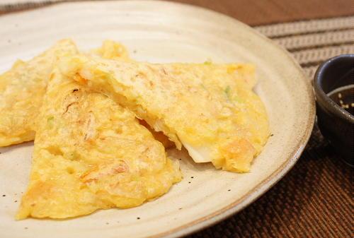 今日のキムチ料理レシピ:シーフード入りキムチチヂミ