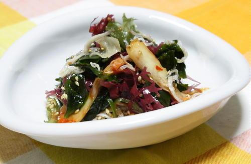 今日のキムチ料理レシピ:海藻キムチサラダ