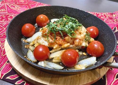 今日のキムチ料理レシピ:カジキのキムチ焼き