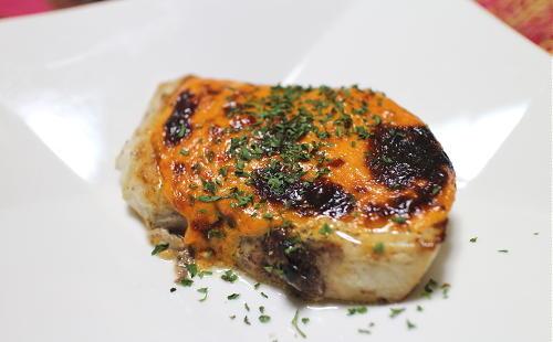 今日のキムチ料理レシピ:めかじきのピリ辛ゆずマヨ焼き
