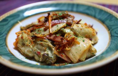 今日のキムチレシピ:カキのキムチ炒め