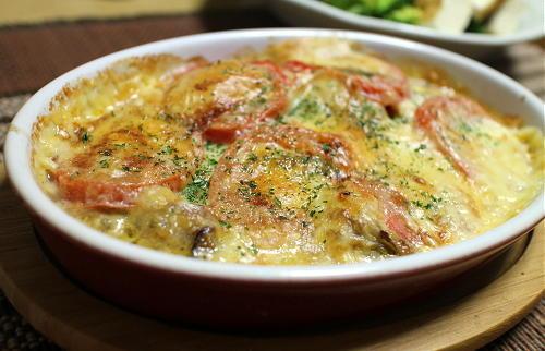 今日のキムチレシピ:カキとトマトのキムチチーズ焼き