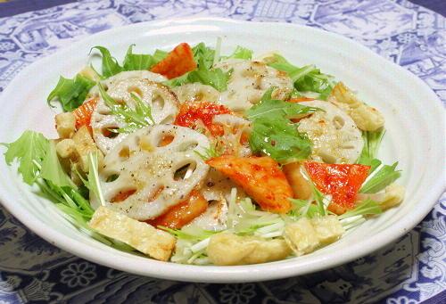 今日のキムチ料理レシピ:レンコンと特選カクテキのサラダ