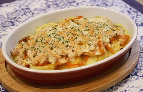 今日のキムチ料理レシピ:蟹とキムチのクリーム焼き