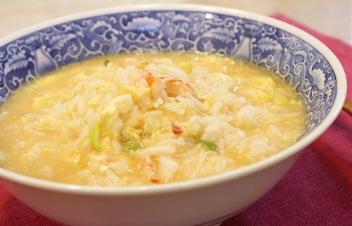 今日のキムチ料理レシピ:かにキムチ雑炊