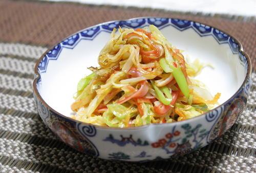 カニカマとねぎのピリ辛マヨ炒めレシピ