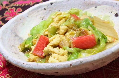 今日のキムチ料理レシピ:レタスとキムチの単語炒め